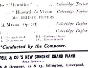 Coleridge-Taylor concert programme, Liverpool, 19 Oct. 1908 (detail)