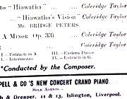 Coleridge-Taylor concert programme, Liverpool, 19 Oct. 1908 (detail)